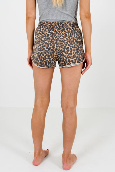 Faded Leopard Print Cute Boutique Shorts for Women