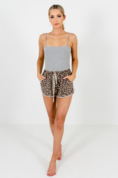 Leopard Print Cozy Comfy Soft Stretchy Shorts for Women