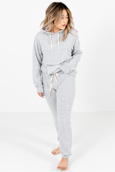 Heather Gray Cute and Comfortable Boutique Joggers for Women
