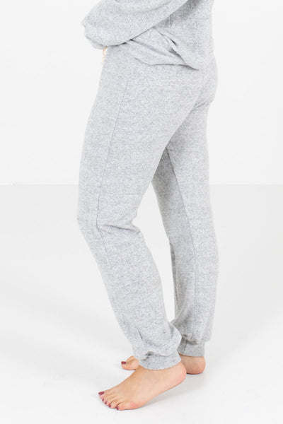 Heather Gray Soft and Stretchy Boutique Joggers for Women