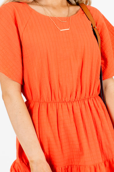 Coral Cute and Comfortable Boutique Knee-Length Dresses for Women