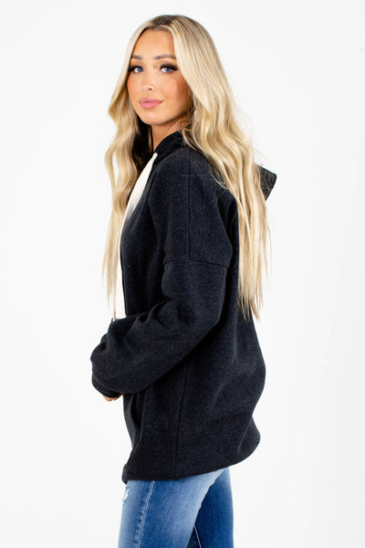 Gray Warm Boutique Hoodies for Women