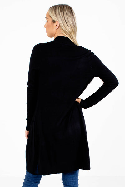 Women's Black Long Sleeve Boutique Cardigan