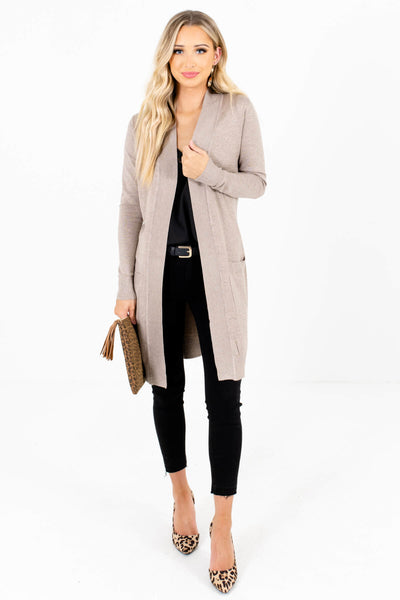 Women's Beige Brown Fall and Winter Boutique Clothing