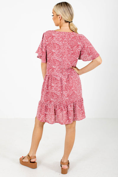 Women's Pink Button-Up Bodice Boutique Mini Dress