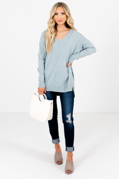 Women's Light Blue Fall and Winter Boutique Clothing