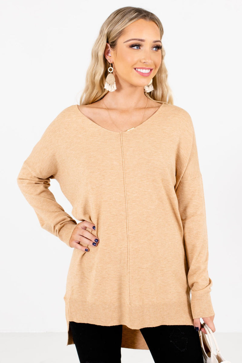 Choose Kindness Camel Brown Sweater