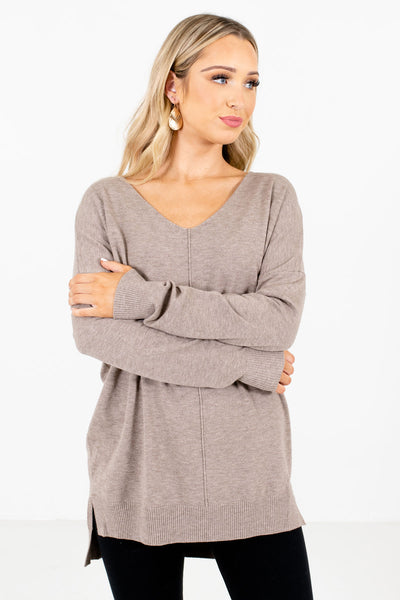 Choose Kindness Mocha Brown Sweater