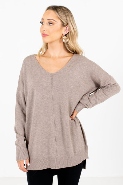 Mocha Brown High-Quality Boutique Sweaters for Women