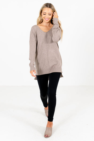 Mocha Brown Cute and Comfortable Boutique Sweaters for Women
