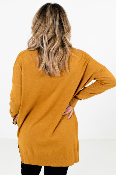 Women's Mustard Yellow Oversized Fit Boutique Sweater