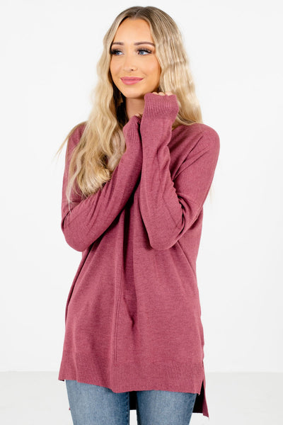 Women's Purple Soft High-Quality Material Boutique Sweater