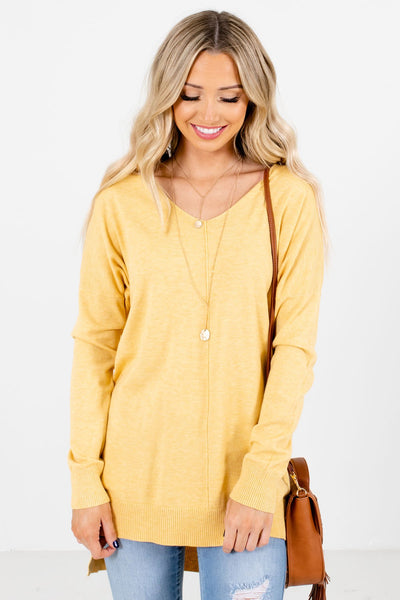Yellow Soft High-Quality Boutique Sweaters for Women