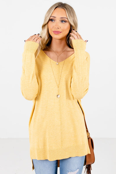 Women's Yellow Warm and Cozy Boutique Sweater
