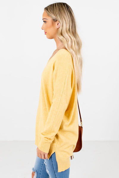 Yellow Cute and Comfortable Boutique Sweaters for Women