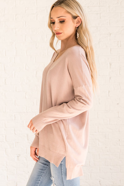 Dusty Pink Cute Women's Outerwear Cozy Warm Clothes