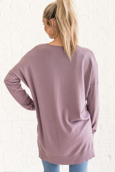 Lavender Purple Oversized Women's Sweater Cozy Warm