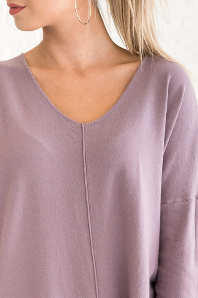 Lavender Purple Casual Fall Warm Clothes for Women