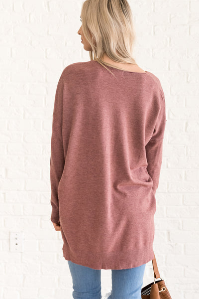 Mauve Purple Oversized Women's Warm Cozy Sweaters