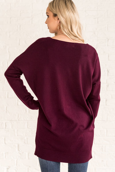 Plum Purple Oversized Women's Sweater