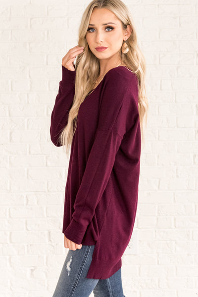 Plum Purple Cute Women's Outerwear