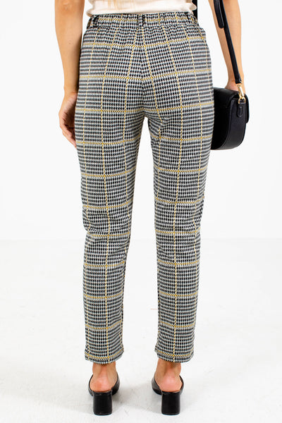 Women's Mustard Elastic Waistband Boutique Pants