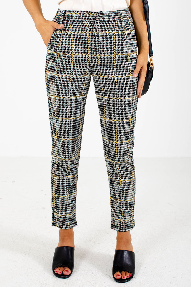 City Chic Houndstooth Pants