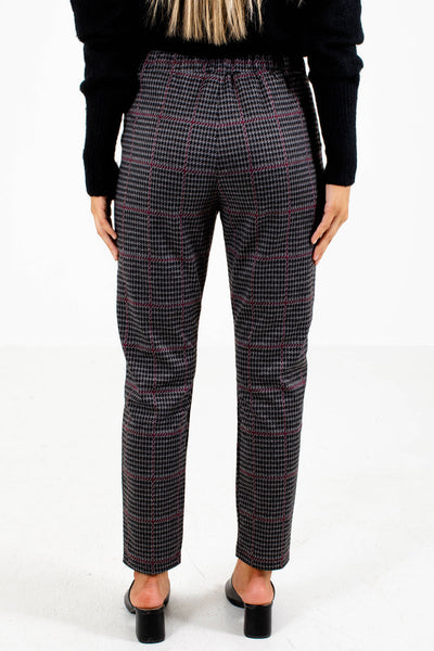 Women's Wine Purple Business Casual Boutqiue Pants