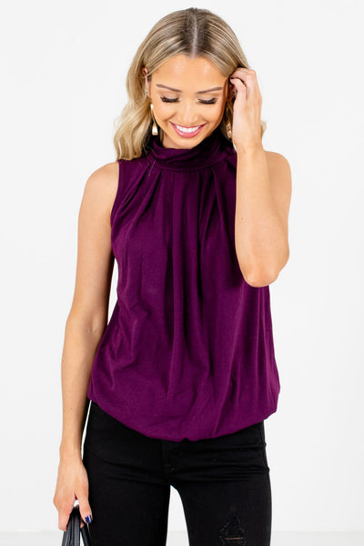 Women's Purple High-Quality Boutique Tank Tops