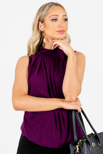 Women's Purple Casual Everyday Boutique Tank Top