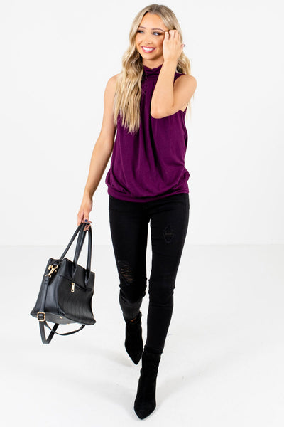 Purple Cute and Comfortable Boutique Tank Tops for Women