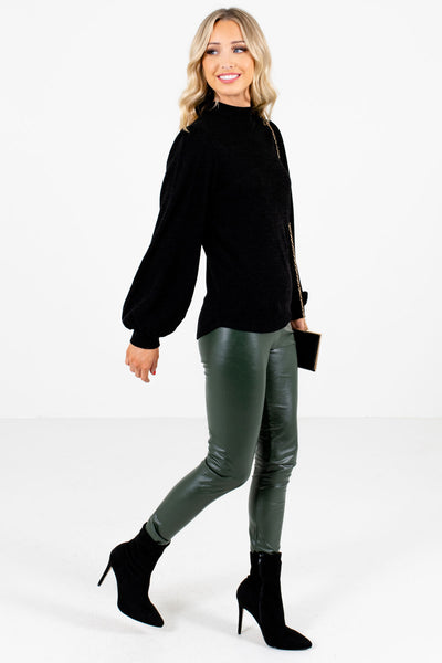 Women's Olive Green Skinny Fit Boutique Leggings