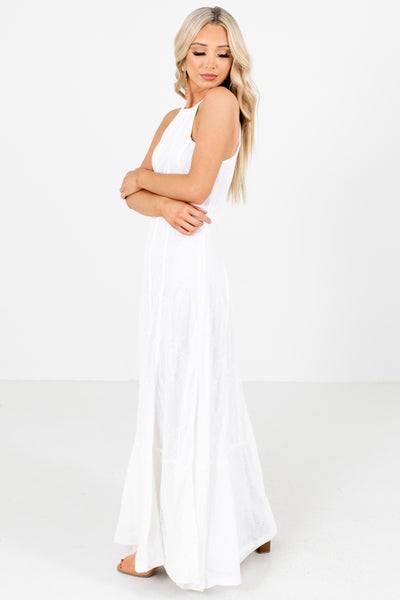 Women's White Special Occasion Boutique Maxi Dress