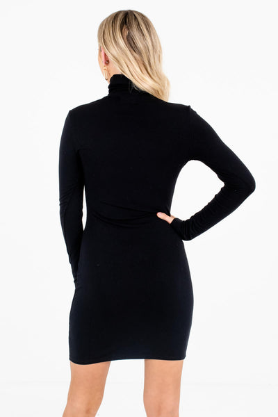 Women's Black Long Sleeve Boutique Mini Dress