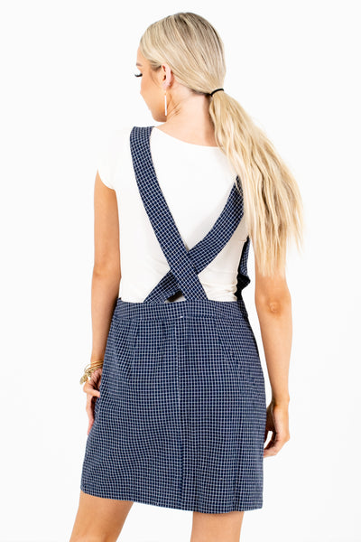 Women's Navy Lightweight Material Boutique Mini Dress