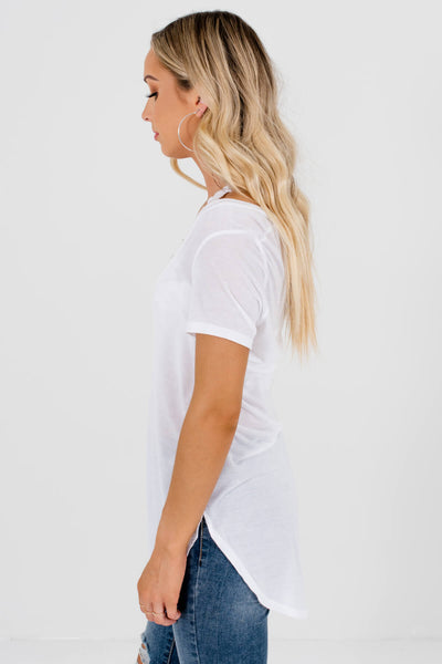 Women's white Lightweight Boutique Tees
