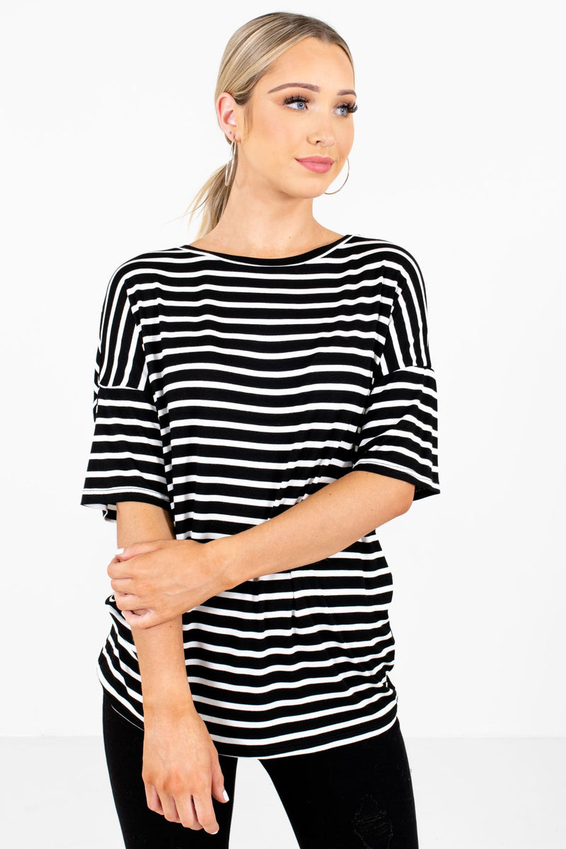 Close to You Black Striped Top