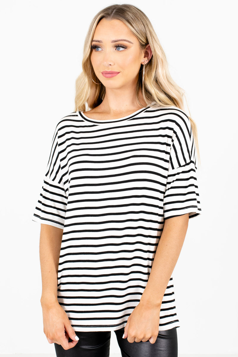 Close to You White Striped Top