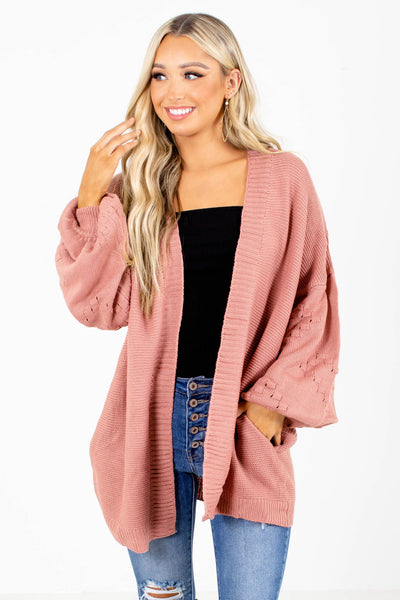Pink Layering Boutique Cardigans for Women
