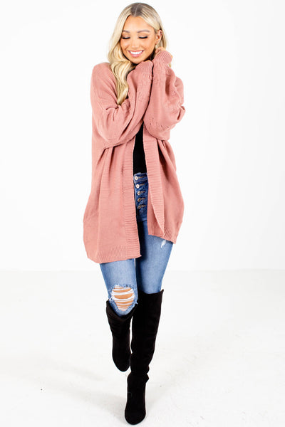 Women's Pink Cute and Comfortable Boutique Cardigan