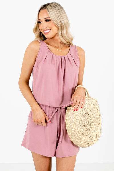 Pink Tank Style Boutique Rompers for Women