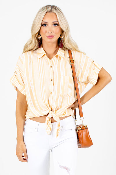 Women's Yellow Cute and Comfortable Boutique Shirt