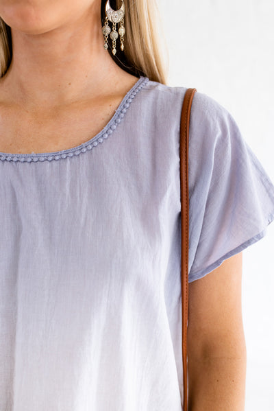 Blue and White Affordable Online Boutique Clothing for Women