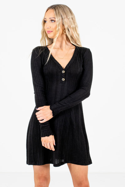 Come Closer Black Mini Dress