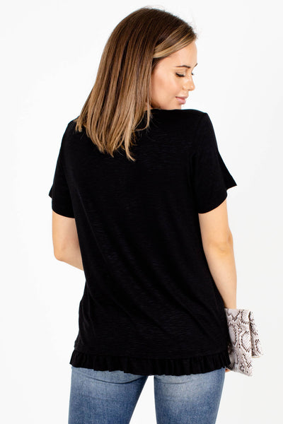 Women's Black High-Quality Boutique Top