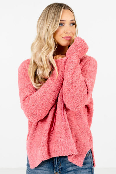 Women's Coral Pink Warm and Cozy Boutique Clothing