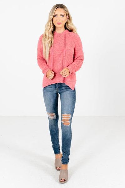 Women's Coral Pink Fall and Winter Boutique Clothing
