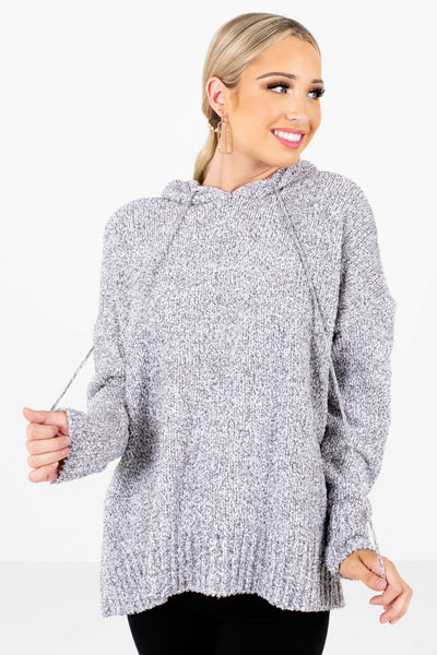 Women's Gray High-Low Hem Boutique Hoodies