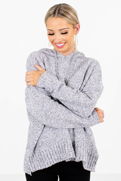 Women's Gray Warm and Cozy Boutique Clothing