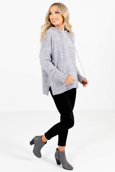 Gray Cute and Comfortable Boutique Hoodies for Women